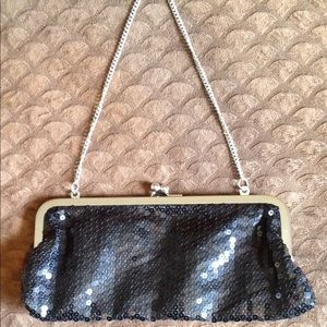 Small black sequince cocktail purse